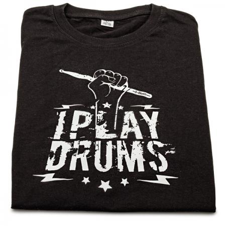 T-Shirt-I Play Drums Größe-L
