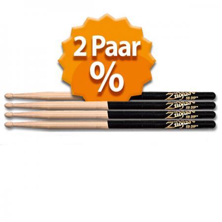 Zildjian 5B Black Dip 2 Paar Pack